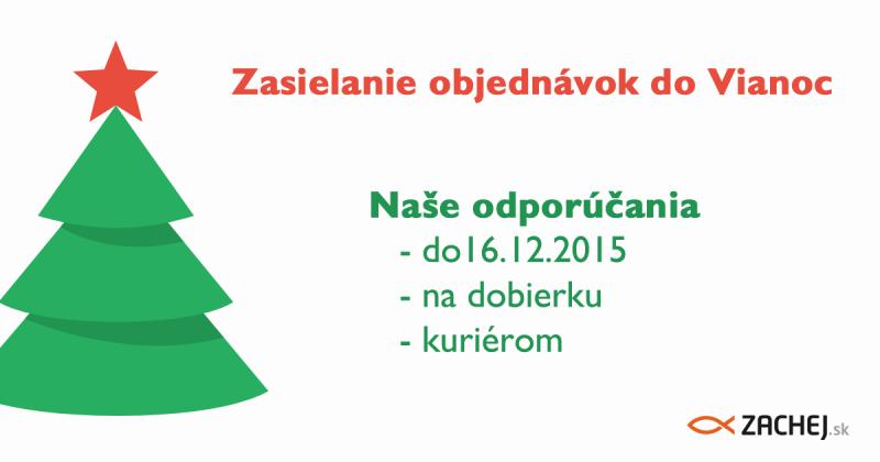 Zasielanie objednávok do Vianoc 2015