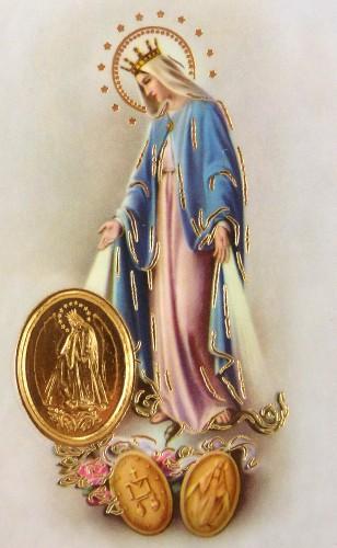 RCC kartička s modlitbou - Panna Mária Zázračnej medaily